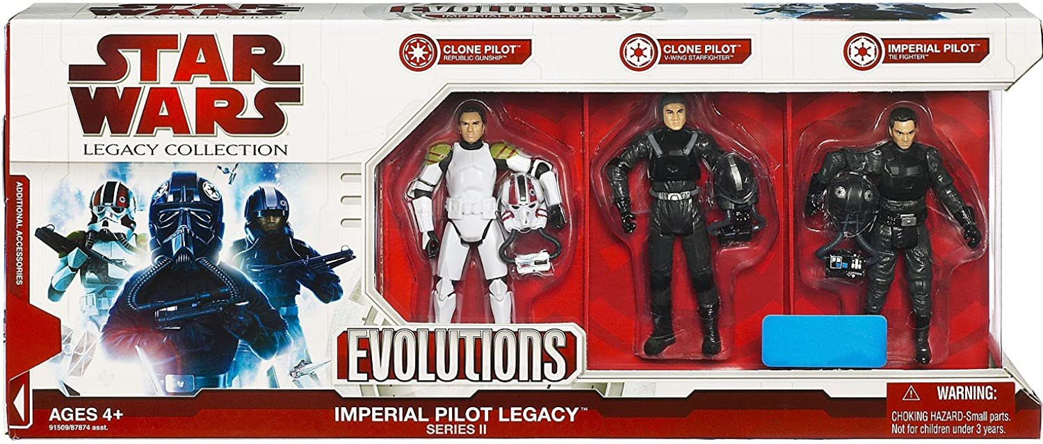 Star Wars Legacy Collection Exclusive Imperial Pilot Legacy Evolutions Series 2