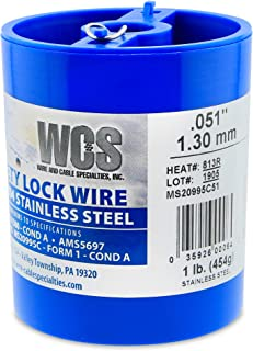Wire and Cable Specialties MC0510-1#D Safety Lockwire MS20995C51 .051 in (1.29 mm), 1 lb (0.45 kg) Disp, appx 143 ft (20 m)