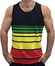 Exist Licensed-Mart Men's Rasta Reggae Flag Tank Top Shirt