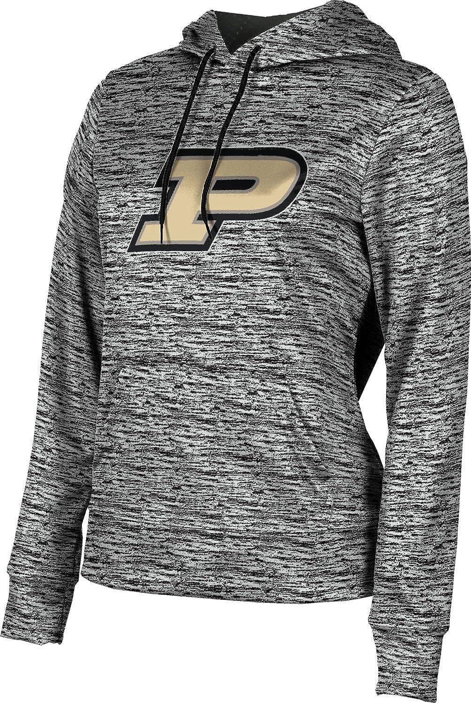 Purdue University Girls' Pullover Hoodie, School Spirit Sweatshirt (Brushed) FC672 Black and Light Gray