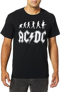 Liquid Blue Men's AC/DC Rock Evolution T-Shirt Black Medium