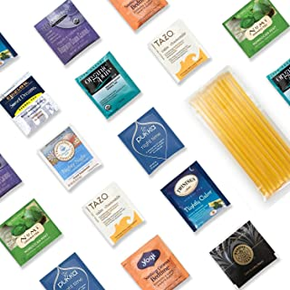 Sleep Better Tea Kit - 40+ Servings Night Time Herb Tea Assortment with 10 Honey Sticks. Perfect Sampler Gift for Those Who Look For a Good Night's Sleep. Best Tea Gift