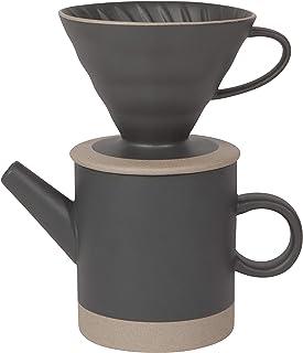 Now Designs Pour Over Coffee Set/2 Matte Black Stoneware Mug, Full