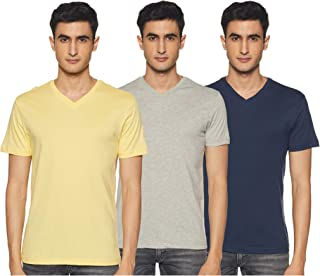 Amazon Brand - Symbol Men's Solid Regular fit T-Shirt (Pack of 3)