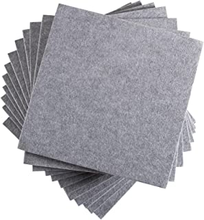 Fstop Labs 12 Pack Set Acoustic Absorption Panel, 12 X 12 X 0.4 Inches Grey Acoustic Soundproofing Insulation Panel Tiles,...