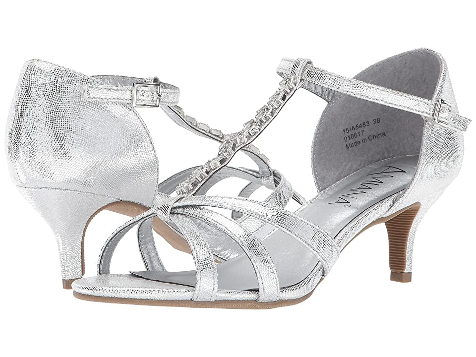 Image of Amiana 15-A5483 (Little Kid/Big Kid/Adult) (Silver Scored Metallic) Girl's Shoes