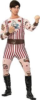 Men's Vintage Strongman Costume X-Large Red