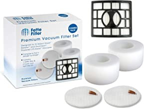Fette Filter - Vacuum Filters Compatible with Shark Rotator Powered Lift-Away Speed & DuoClean Models NV680, NV681, NV682, NV683, NV800, NV800W, NV801, NV803, UV810. Compare to Part # XHF680 & XFF680.
