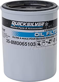Quicksilver 8M0065103 Oil Filter - Mercury and Mariner 4-Stroke Outboards 25 HP Through 115 HP
