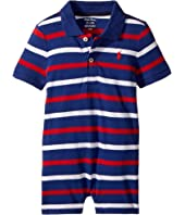 Striped Cotton Polo Shortall (Infant)