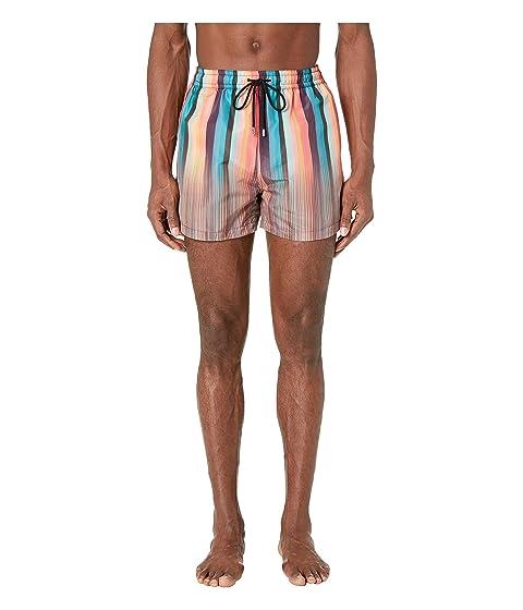 0ccad86547f34 Paul Smith Artist/Multistripe Mix Classic Swim Shorts at Luxury ...