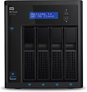 WD My Cloud EX4100 Diskless Expert Series 4-Bay Network Attached Storage - NAS - WDBWZE0000NBK-NESN