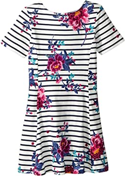 Striped Floral Jersey Dress (Toddler/Little Kids/Big Kids)