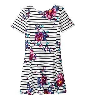 Striped Floral Jersey Dress (Toddler/Little Kids/Big Kids)