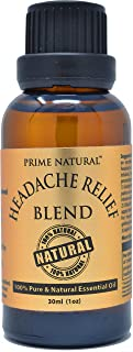 Headache Relief Essential Oil Blend 30ml / 1oz - Natural Pure Undiluted Therapeutic Grade for Aromatherapy, Scents & Diffuser - Tension, Relaxation, Stress Relief, Calming