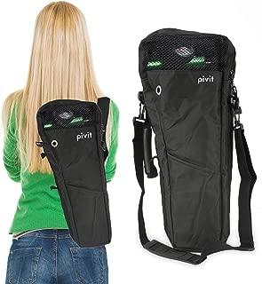 Pivit Oxygen Cylinder Shoulder Bag with Flex Shoulder Strap, B/M6 Tanks, Black   Adjustable Padded Comfort Flex Shoulder Strap   Mesh Window Panel For Easy Viewing   Non-Flammable Durable Nylon Fabric
