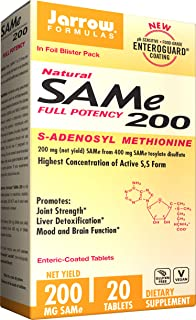 Jarrow Formulas Sam-e, Promotes Joint Strength, Liver Detoxification, 200mg, 20 Tabs