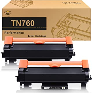 CMYBabee Compatible Toner Cartridge Replacement for Brother TN760 TN730 TN-760 TN-730 for Brother MFC-L2730DW DCP-L2550DW HL-L2350DW (Black)