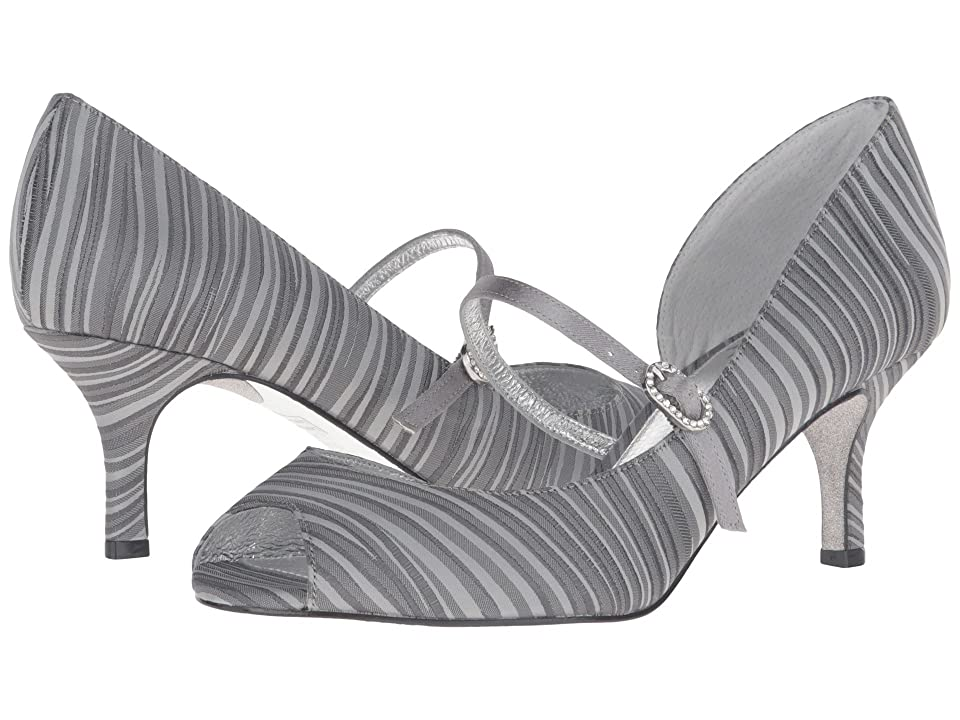 Adrianna Papell Janet (Pewter Strata Satin) High Heels