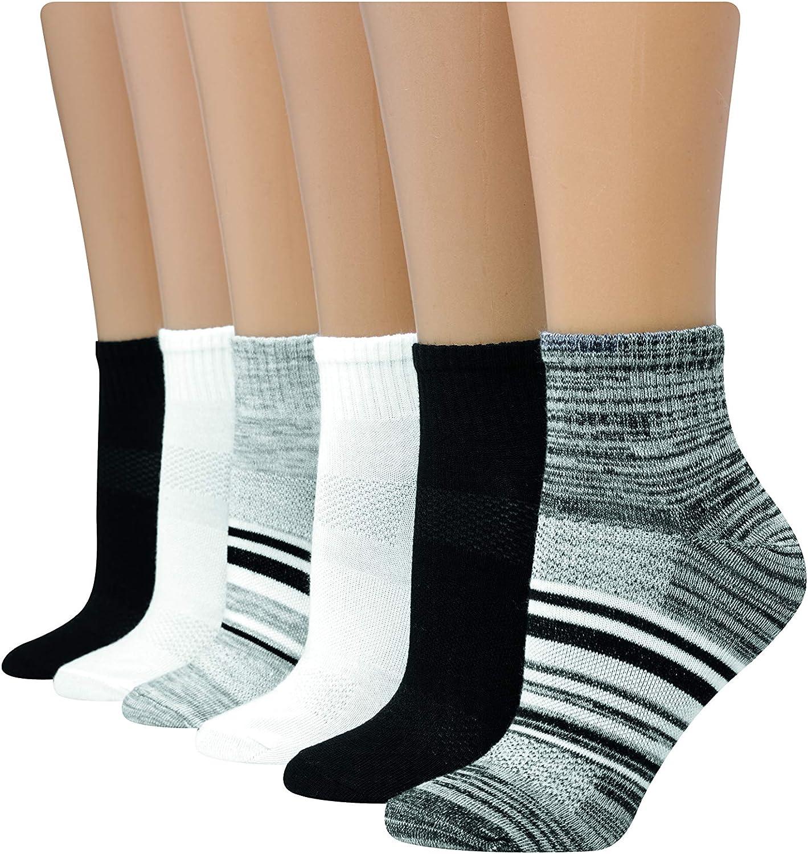 Hanes womens 6-pair Lightweight Breathable Ventilation Ankle Socks