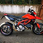 Felgenaufkleber Set Ducati Hypermotard Für Motorrad 17 Zoll Felgenrandaufkleber Felgenbettaufkleber Vorder Hinterreifen Komplett Set Doppelt Matt Auto