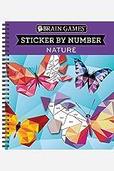 Brain Games® Sticker by Number: Nature Spiral-bound