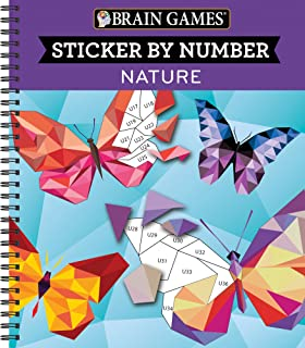 Brain Games - Sticker by Number: Nature (28 Images to Sticker)