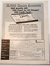 1958 Diners Club Magazine Print Advertisement