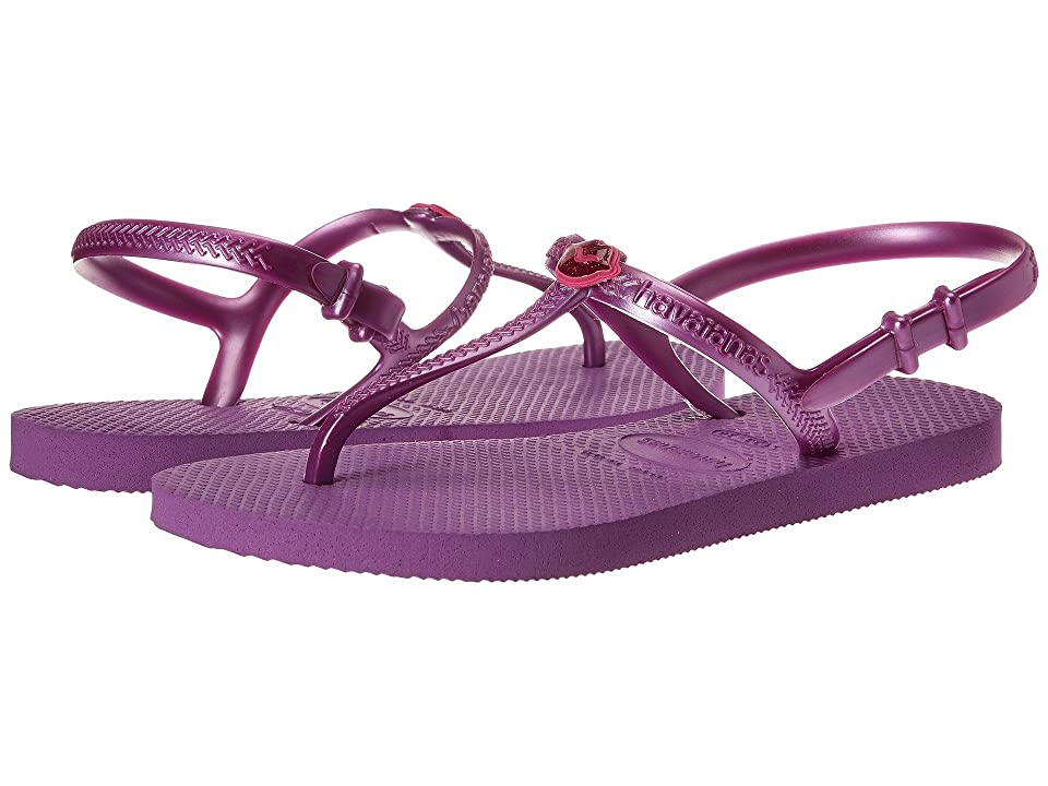 Havaianas Kids Freedom Sandals (Toddler/Little Kid/Big Kid) (Purple) Girls Shoes