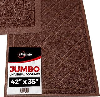 """SlipToGrip Jumbo Door Mat Inside / Outdoor 42 """"x35"""" Brown Duraloop"""