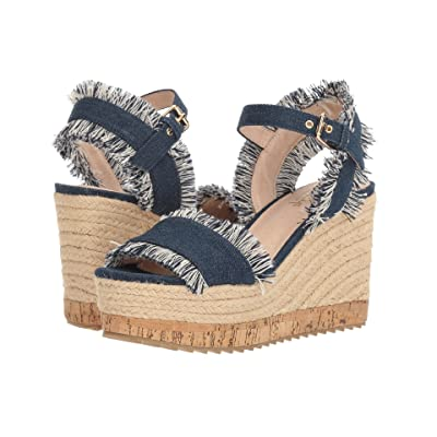 Shellys London Daphne Wedge (Denim Fabric) Women