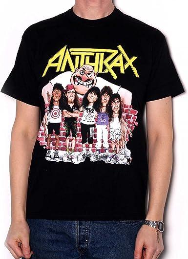 Anthrax Euphoria Group Sketch Camiseta Manga Corta para Hombre