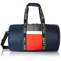 United Colors of Benetton Polyester 50 cms Navy Grey White Red Gym Shoulder Bag (0IP6DFBGMP03I)