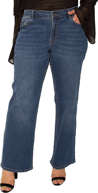 Standards & Practice Women's Plus Size Stretch Slim Fit Jeans