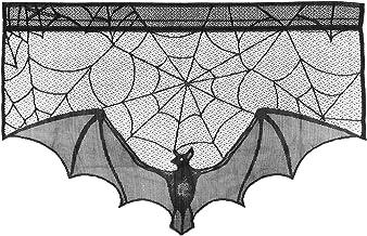 BESTOYARD Pano para decoração de Halloween para lareira de sala de estar e lareira (Preto)