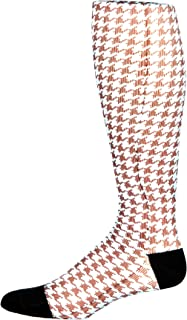 Prince Daniel Men's Therapeutic Compression Sock, Turquoise Brown Check, 8-15 mmHg, Mild