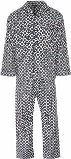 Mens Brushed Cotton Pyjama Set Nightwear Flannelette Pyjamas S M L XL XXL 3XL (Large, Navy Diamond)