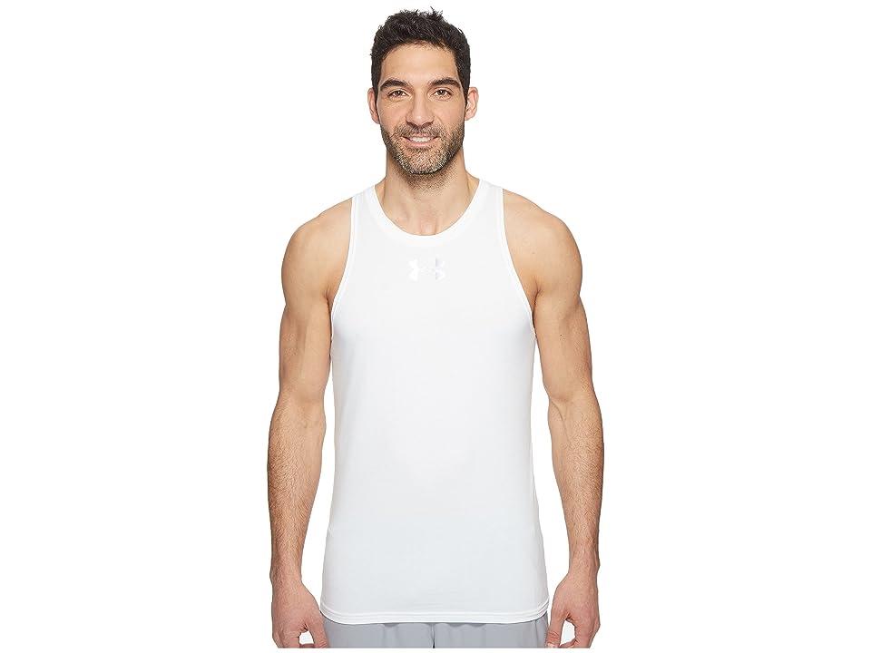 Under Armour UA Baseline Cotton Tank Top (White/Steel) Men