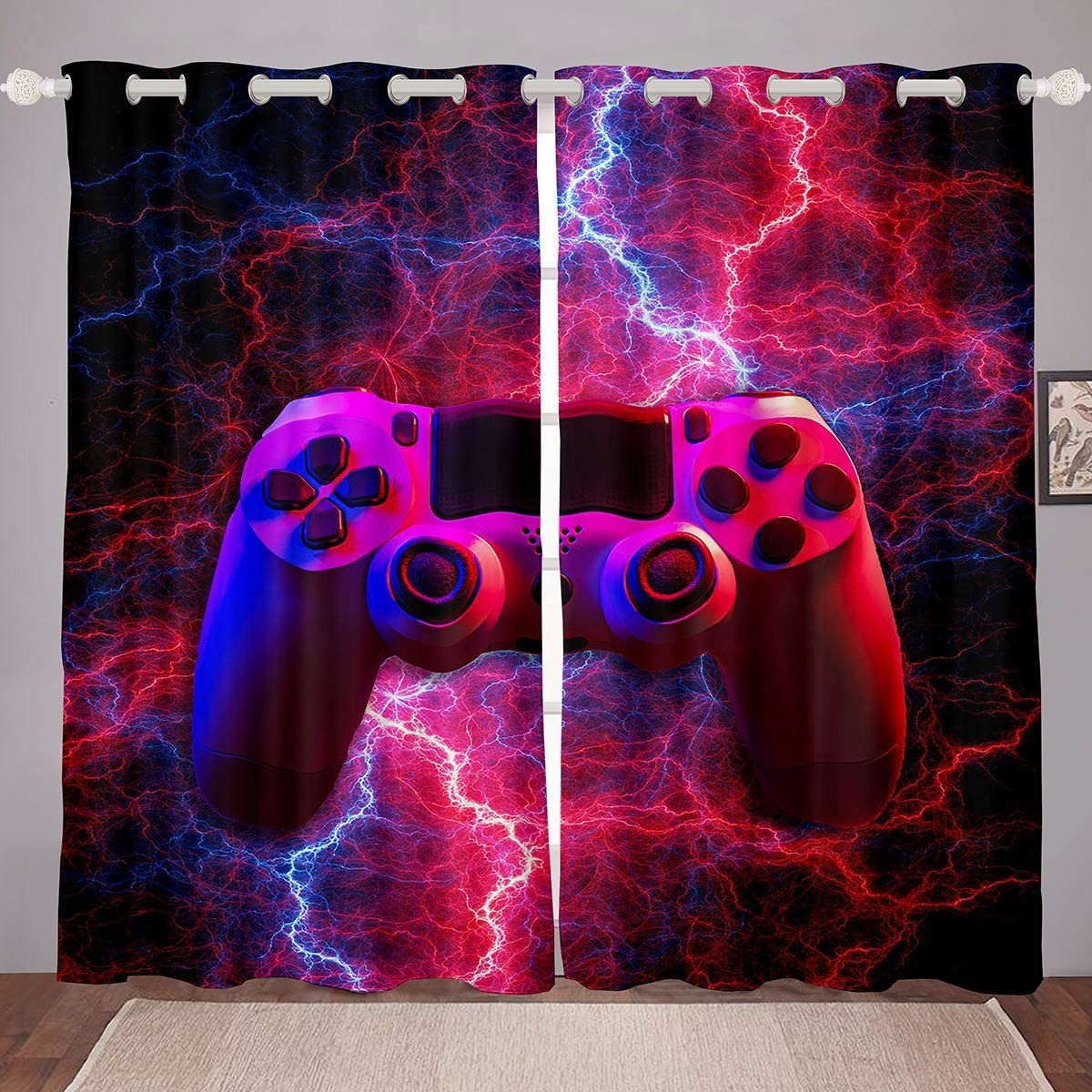 Feelyou 3D Print All Max 81% OFF items free shipping Gamer Curtains for Gami Room Red Bedroom Living