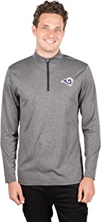 Ultra Game  NFL Men's Quarter-Zip Pullover Active Performance Shirt
