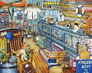 Springbok Puzzles - The Bait Shop - 1000 Piece Jigsaw Puzzle - Large 30 Inches by 24 Inches Puzzle - Made in USA - Unique ...