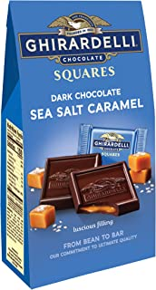 Ghirardelli Dark and Caramel Sea Salt, Chocolate Squares, 5.32 oz., (Pack of 6)