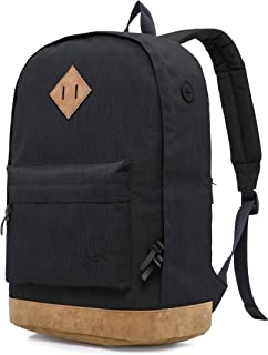 936Plus College Backpack for Men & Teen Boys: Water Resistant School Bookbag with 12 Pockets, Black