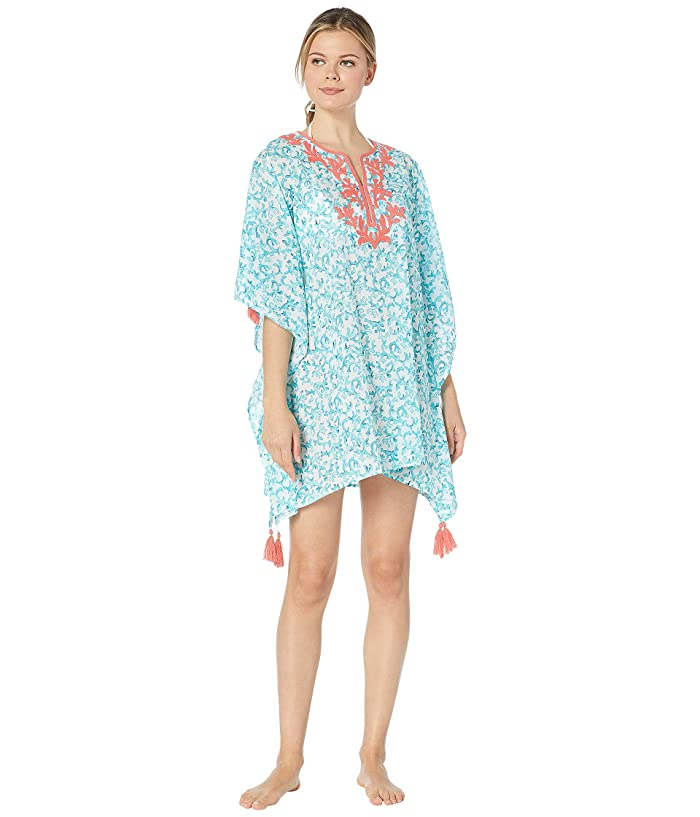 Tommy Bahama Coral Cabana Embroidered Tunic (White) Women
