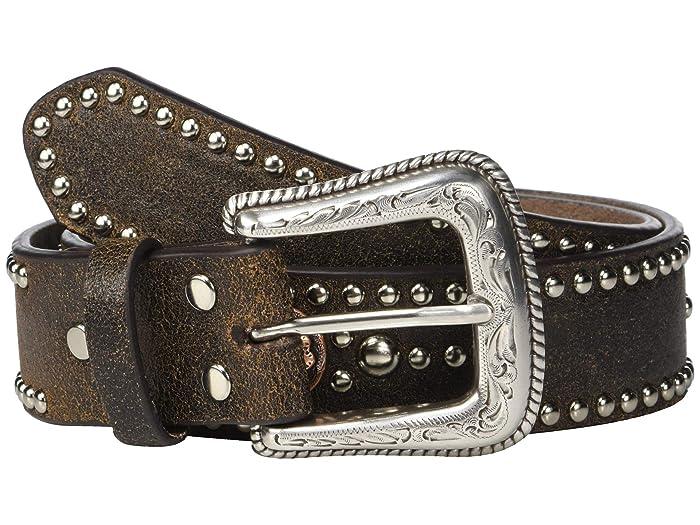 M&F Western Nocona Crackle Belt w/ Copper Conchos
