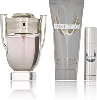 Paco Rabanne Invictus 3 Piece Gift Set for Men, Packaging may Vary