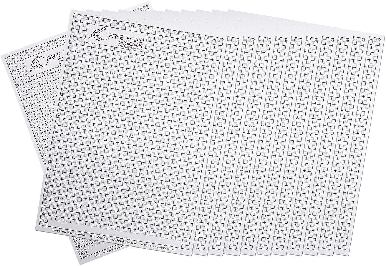 12 x A4 'Freehand Designer' Blatt. 12 x x x Gitterblatt . Schablone für perfekte gerade Linien. Gitterblatt ermöglicht Maßzeichnungen zu erstellen. B079P5M5FS   Niedrige Kosten  3e6ee2