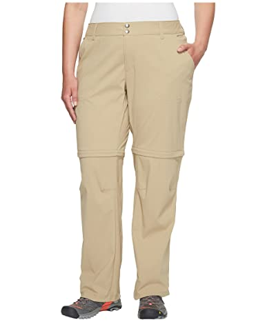 Columbia Plus Size Saturday Trail II Convertible Pant (British Tan) Women