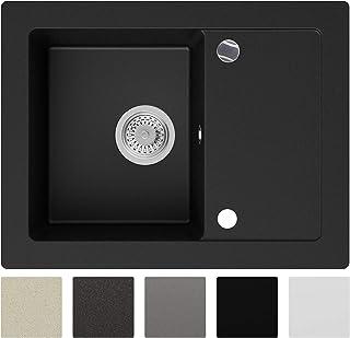 Noir Mat 79/x 50/x 25/cm Schock lithos n200s /évier cristalite Plus