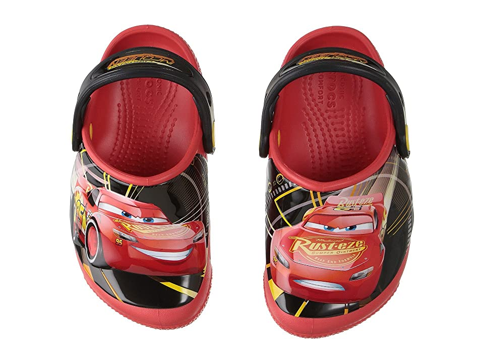 Crocs Kids CrocsFunLab Lights Cars 3 (Toddler/Little Kid) (Flame) Kid